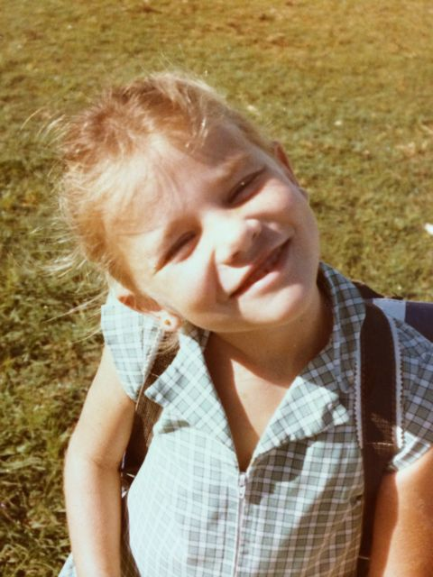 Here I am at age six, I was always dreaming of my adult life.